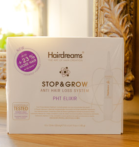 Marque Hairdreams produit coiffure stop and Grow